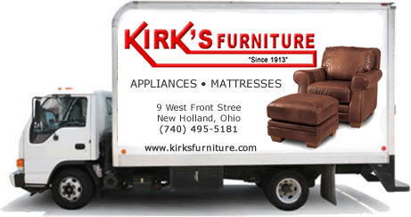 Free Local Delivery Kirk 39 S Furniture And Mattress Store New Holland Ohio
